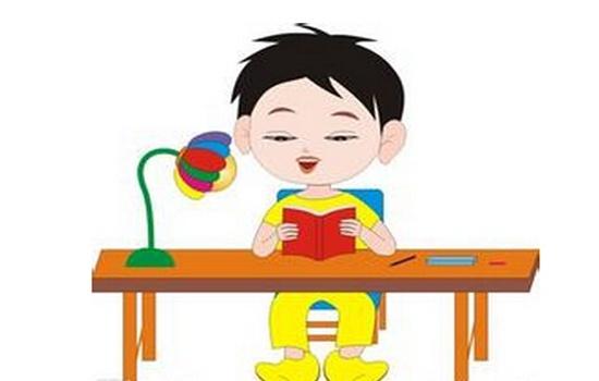 幼儿看书简笔画彩色